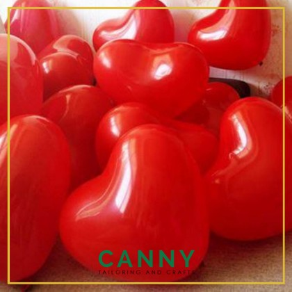 10 pcs 12 Inches Love Shape Balloon / 10 pcs Belon Bentuk Love Pelbagai Warna
