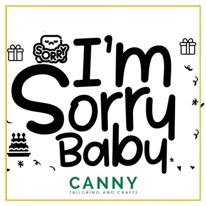 CUSTOMIZED BALLOON STICKER - I'M SORRY WORD A4 . A5 SIZE ( 1 PCS)