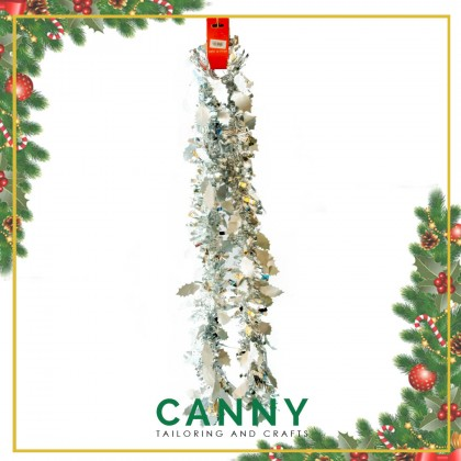 CHRISTMAS TINSEL 2 METER FOR DECORATION PATTERN DESIGN
