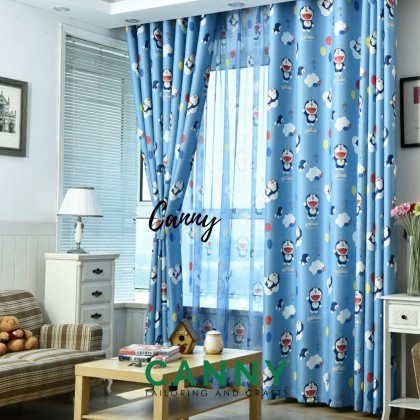 DORAEMON CURTAIN WITH QUALITY FABRIC (SIZE 150CM X 270CM) (1 SET)