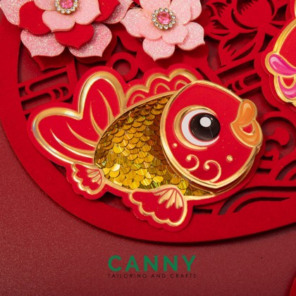 [CNY 2021 DECO] 3D PROSPERITY CNY HANGING CARD OX YEAR /  新年新春装饰卡 牛年装饰 (1 PCS) [ KOD B611 / B613]