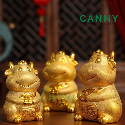 [CNY 2021 SPECIAL] GOLDEN OX / GOL OX COIN COLLECTOR / COIN BOX / COIN CONTAINER / 金牛铺满 铺满 金牛贺岁 (1 PCS) [ CODE: 50130022]