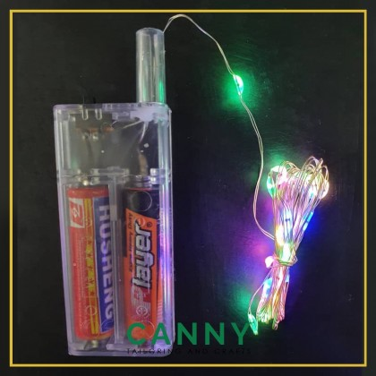 LED Copper String Light 2 Meters (Battery Operated) / Lampu LED Tali Copper 2 Meters (GUNA BATTERY)