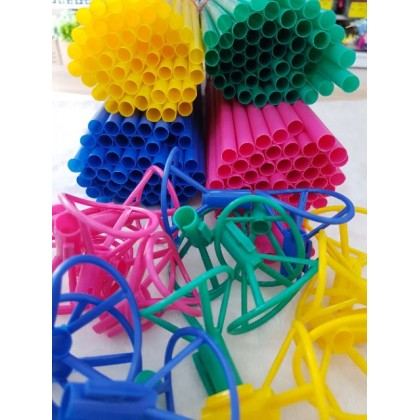 10/50 sets Balloon Stick Large Stick with Balloon Handle F/L / Stik Belon Besar (with Cup Handle) 10 /50 sets️